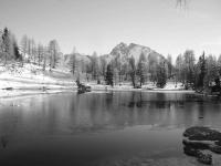 Lago Bordaglia con la neve