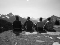 Meditazione in montagna
